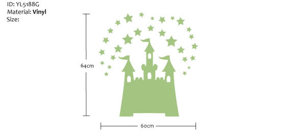 glow in the dark fairy tale castle wall sticker