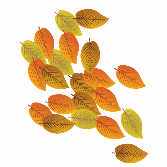 autumn leaf wall stickers