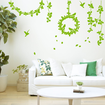 Vine & bird wall stickers