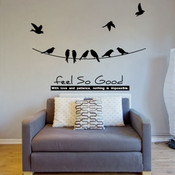 Power Line Birds Wall Sticker 5013