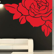 Corner Rose Wall Sticker