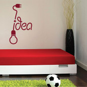 Idea Light Bulb Wall Sticker