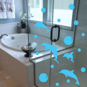 Bubble Dolphin Wall Sticker