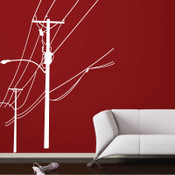 Electricity Pole Wall Sticker