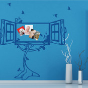Window Photo Frame Wall Sticker