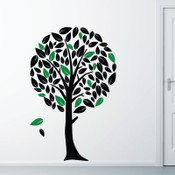 Twin Colour Tree Wall Sticker 5062
