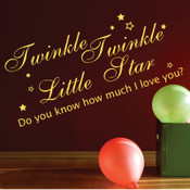 Twinke Twinkle Little Star Wall Quote Sticker