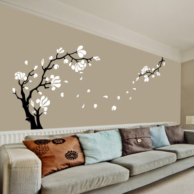 Magnolia Flower Wall Sticker