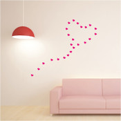 30 Hearts Wall Stickers