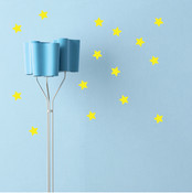 42 Stars Wall Stickers 6015