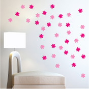 30 Flower Wall Stickers 6016