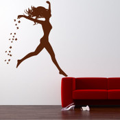 Butterfly Girl Wall Sticker