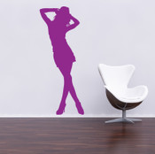 Cool Girl Silhouette Wall Sticker