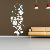 Colour Bubble Flower Wall Sticker