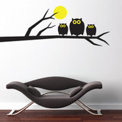 Owl and Moon Wall Sticker