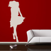 Treny Lady Wall Sticker