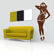 Sunglasses Girl Wall Sticker