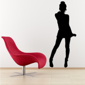 Dancing Girl Wall Sticker