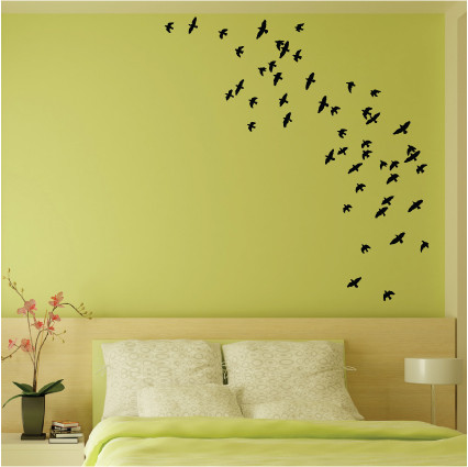 Flock of birds wall stickers 6017 stickers wall for Stickers pour chambre adulte
