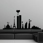 Famous Landmarks Wall Sticker