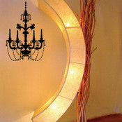 Classic Chandelier Wall Sticker