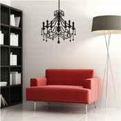 Sophisticated Chandelier Wall Sticker