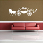 Princess Horse Carriage Wall Sticker