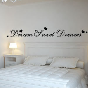 Dream sweet dreams wall quote stickers