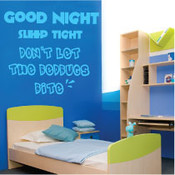 Good Night Sleep Tight Wall Quote Sticker