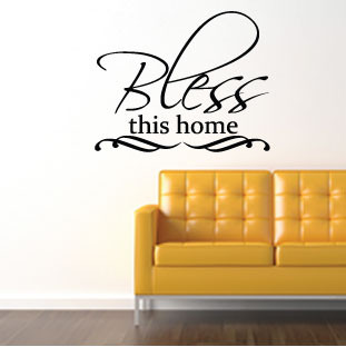 Bless this home wall quote sticker