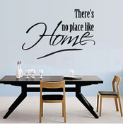 There's No Place Like Home Wall Quote Sticker