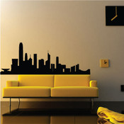 Hong Kong Skyline Wall Sticker