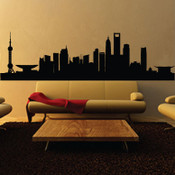 Shanghai Skyline Wall Sticker