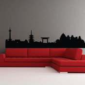 Kyoto Skyline Wall Sticker