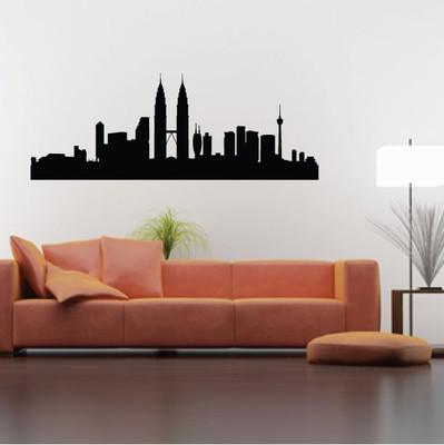 Kuala Lumpur Skyline Wall Sticker