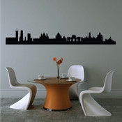 Madrid Skyline Wall Sticker