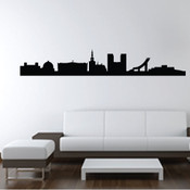 Oslo Skyline Wall Sticker