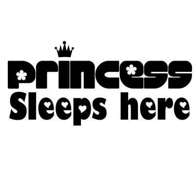 Princess sleeps here wall quote sticker
