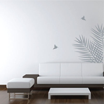 Leaves wall stickers