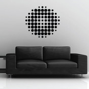 Stylish dots wall stickers