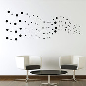 Dot streams wall stickers