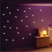 Glow in the Dark Butterfly Wall Stickers 6013-2600