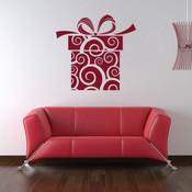 Christmas giftbox wall sticker