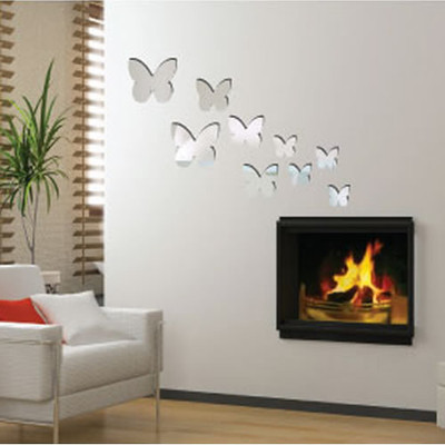 butterfly mirror wall stickers