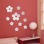 Daisy Flower Mirror Wall Stickers