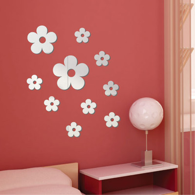 Daisy Flower Mirror Wall Stickers