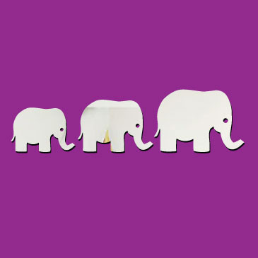 Elephant Mirror Wall Stickers