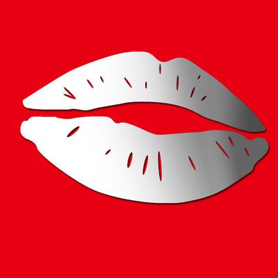 lips mirror wall stickers