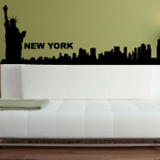 New York Skyline Wall Stickers