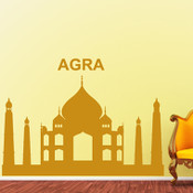 Agra Skyline Wall Stickers